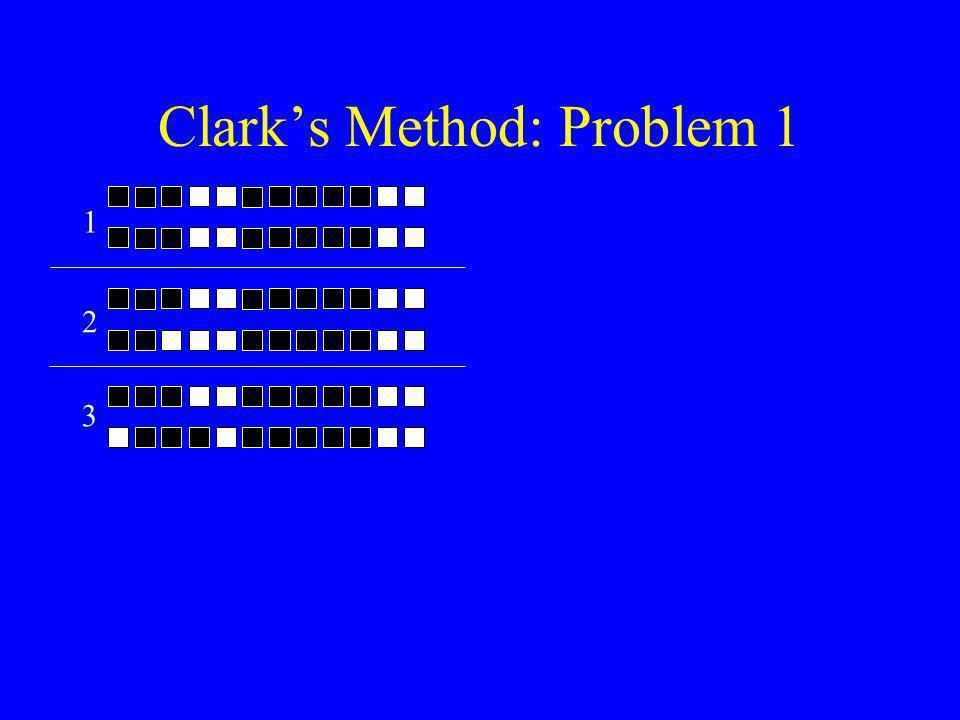 Clark's Method: Problem 1 3 1 2