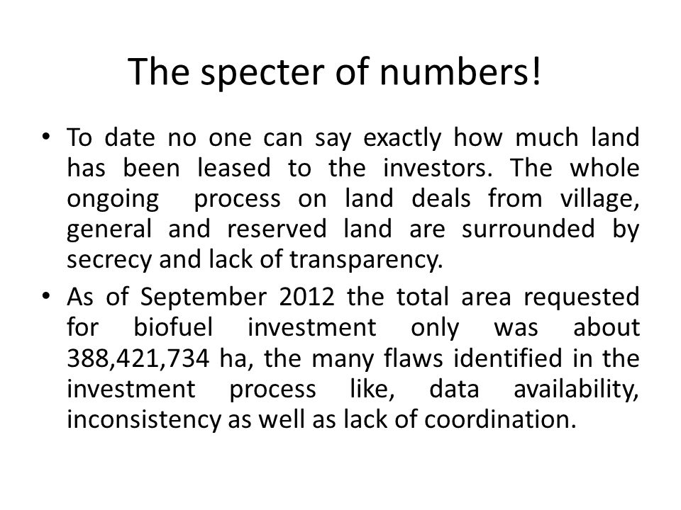The specter of numbers.