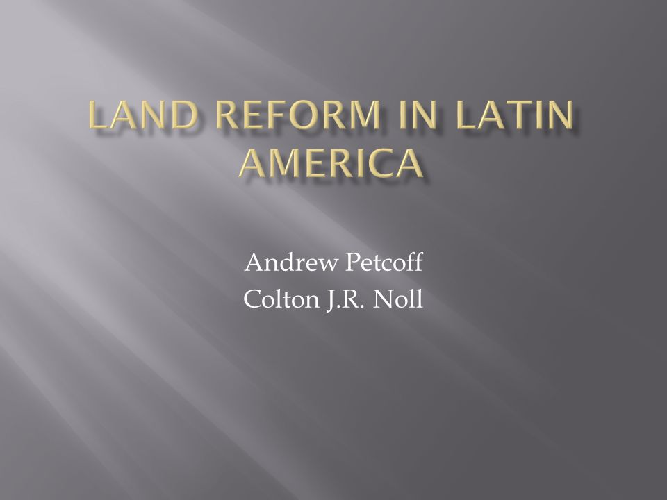 Andrew Petcoff Colton J.R. Noll