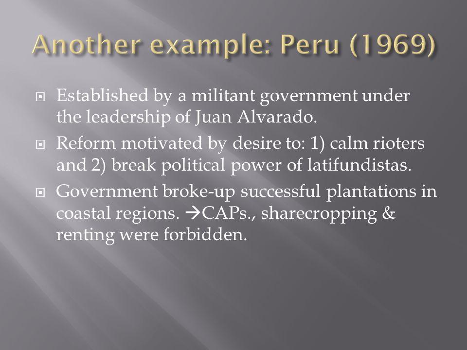  Established by a militant government under the leadership of Juan Alvarado.