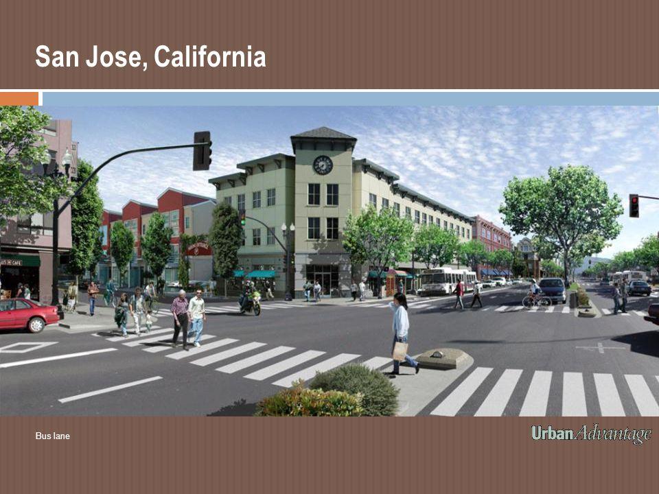 San Jose, California Bus lane