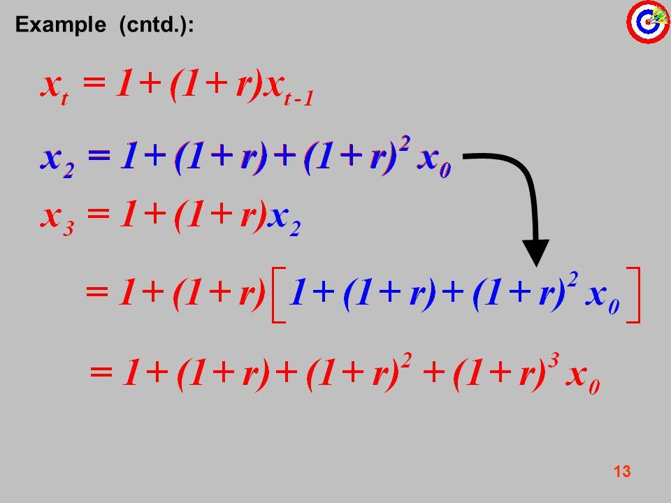 13 Example (cntd.):