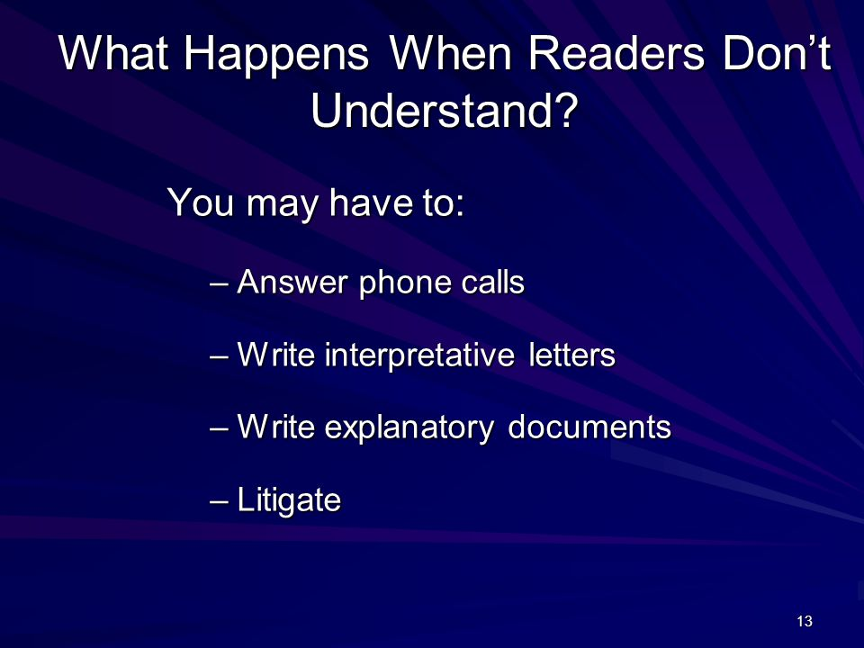 13 What Happens When Readers Don't Understand.