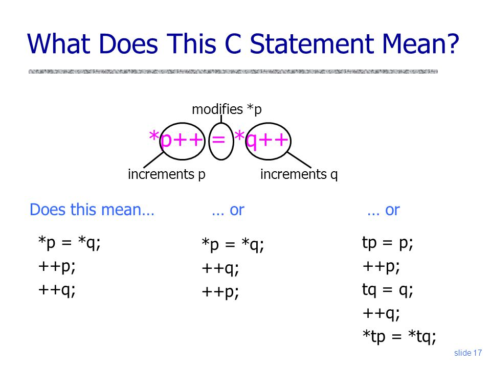 slide 17 What Does This C Statement Mean.