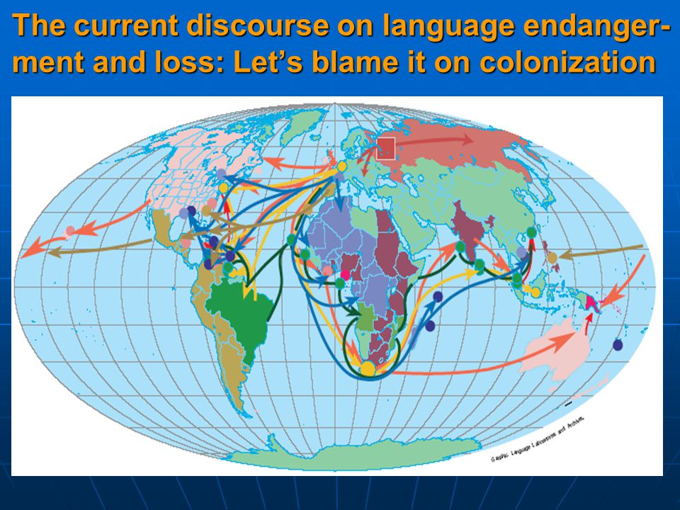 The current discourse on language endanger- ment and loss: Let's blame it on colonization