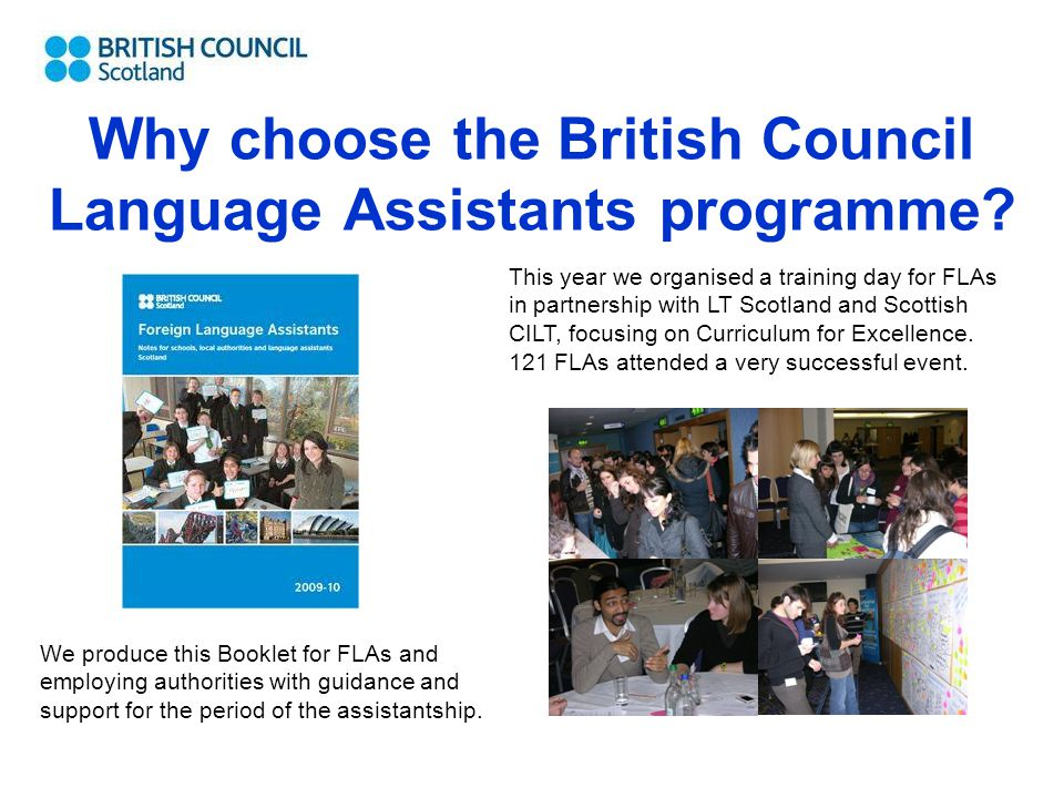 Why choose the British Council Language Assistants programme.