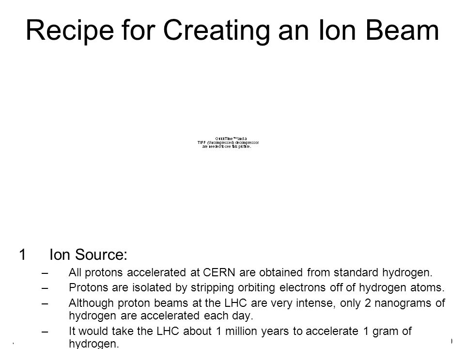 July 25, 2008Abigail Bickley, PAN 20089 Recipe for Creating an Ion Beam 1Ion Source: –All protons accelerated at CERN are obtained from standard hydrogen.