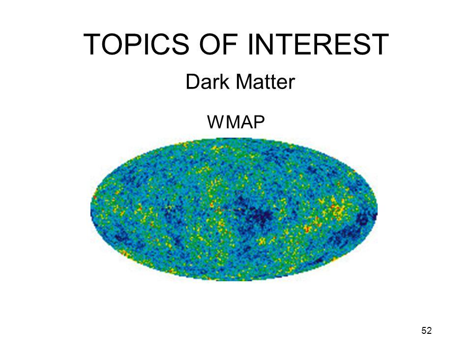 52 TOPICS OF INTEREST Dark Matter WMAP