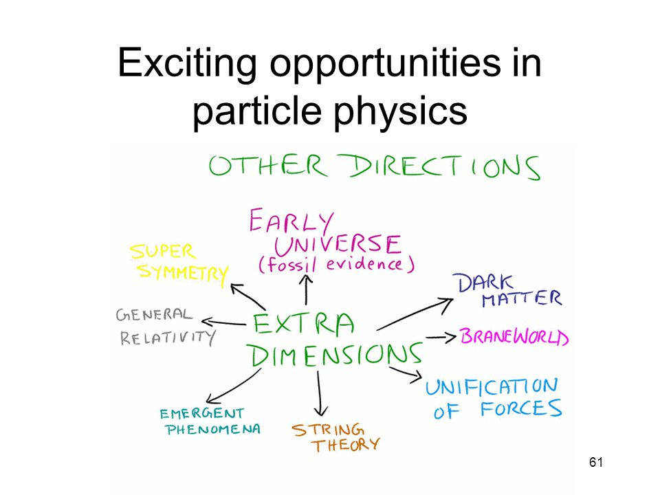 61 Exciting opportunities in particle physics