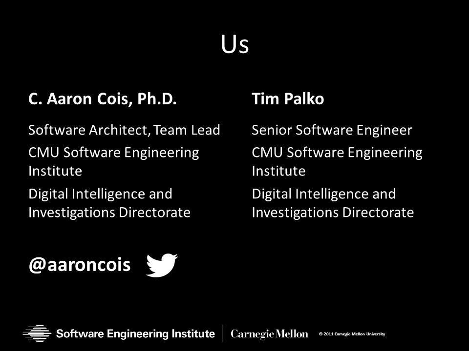 Us C. Aaron Cois, Ph.D.