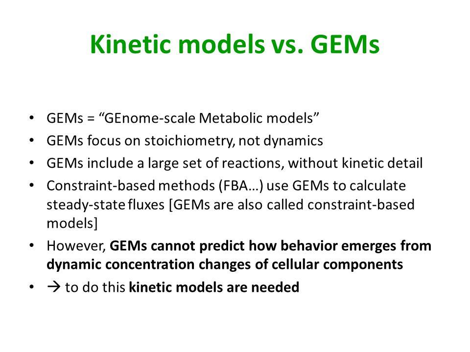 Kinetic models vs.
