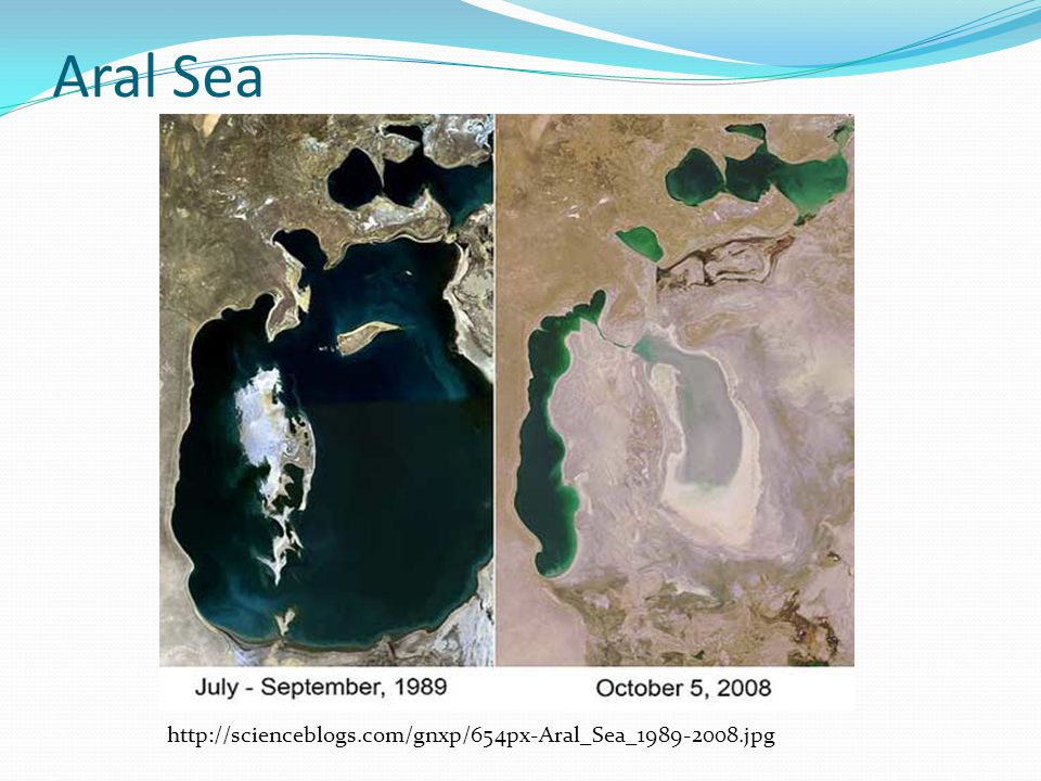 Aral Sea http://scienceblogs.com/gnxp/654px-Aral_Sea_1989-2008.jpg