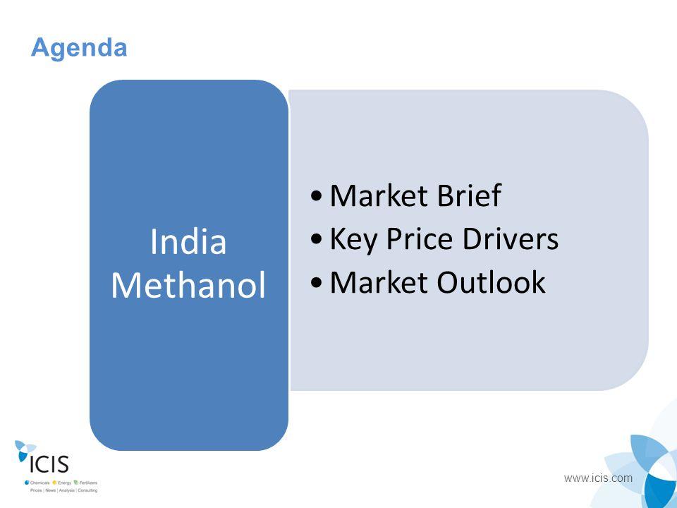 www.icis.com Agenda Market Brief Key Price Drivers Market Outlook India Methanol