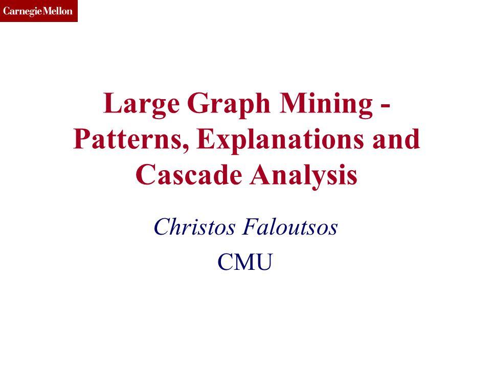 CMU SCS KDD 13 BIGMINE(c) 2013, C.Faloutsos 32 Min-cut plot Do min-cuts recursively.