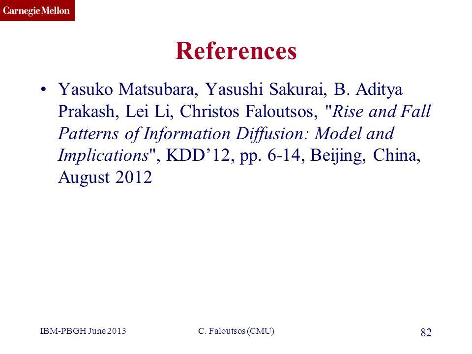 CMU SCS References Yasuko Matsubara, Yasushi Sakurai, B.