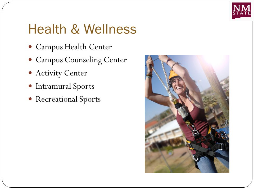 Health & Wellness Campus Health Center Campus Counseling Center Activity Center Intramural Sports Recreational Sports