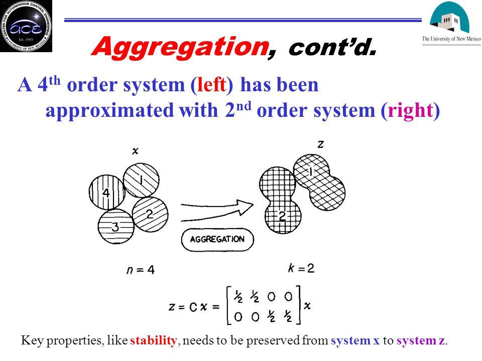 Aggregation, cont'd.