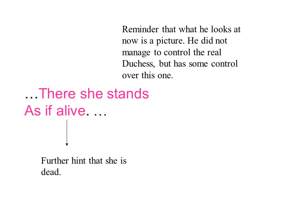 …There she stands As if alive.… Reminder that what he looks at now is a picture.