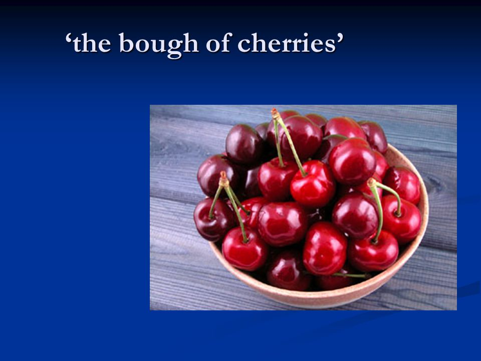 'the bough of cherries'