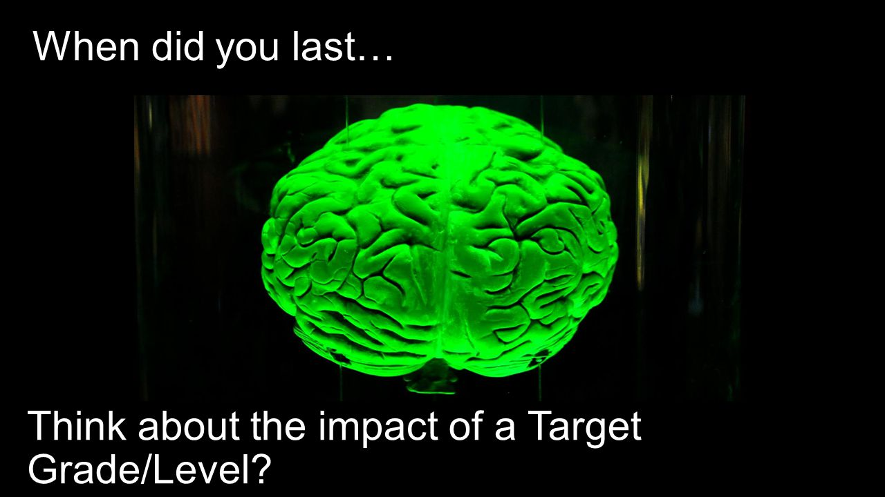 When did you last… Think about the impact of a Target Grade/Level