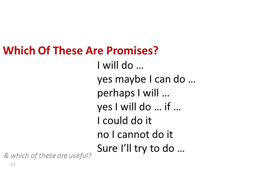 Which Of These Are Promises.