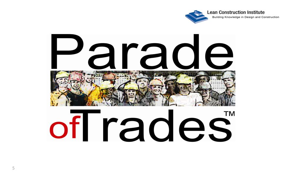 Parade of Trades tables of 6 or 7 arrows point to screen 6