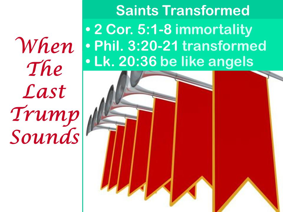 When The Last Trump Sounds Saints Transformed Phil.
