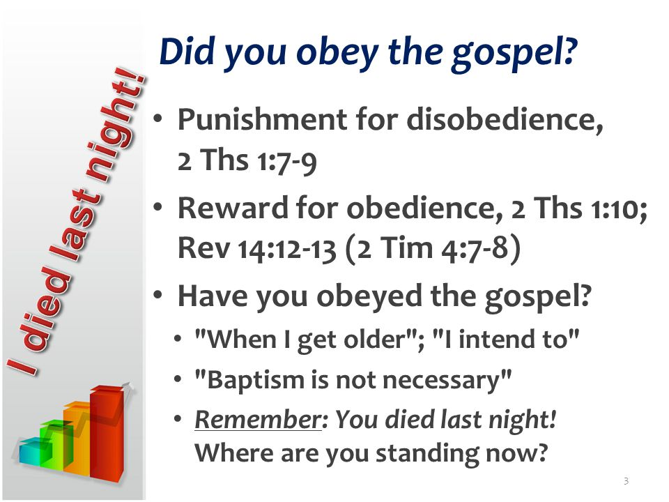 Did you obey the gospel.