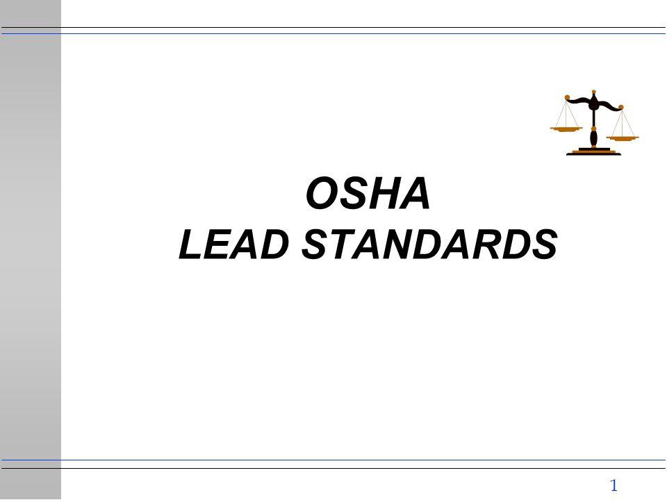 1 OSHA LEAD STANDARDS