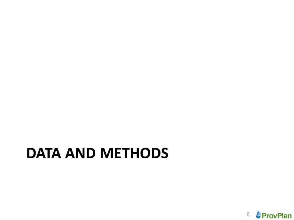 DATA AND METHODS 8