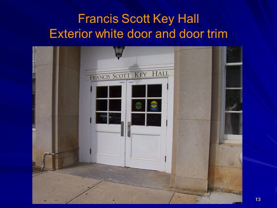 Francis Scott Key Hall Exterior white door and door trim 13