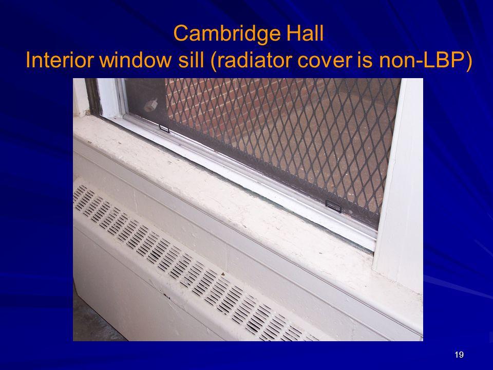 Cambridge Hall Interior window sill (radiator cover is non-LBP) 19