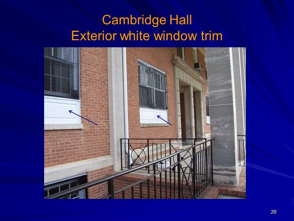 Cambridge Hall Exterior white window trim 20