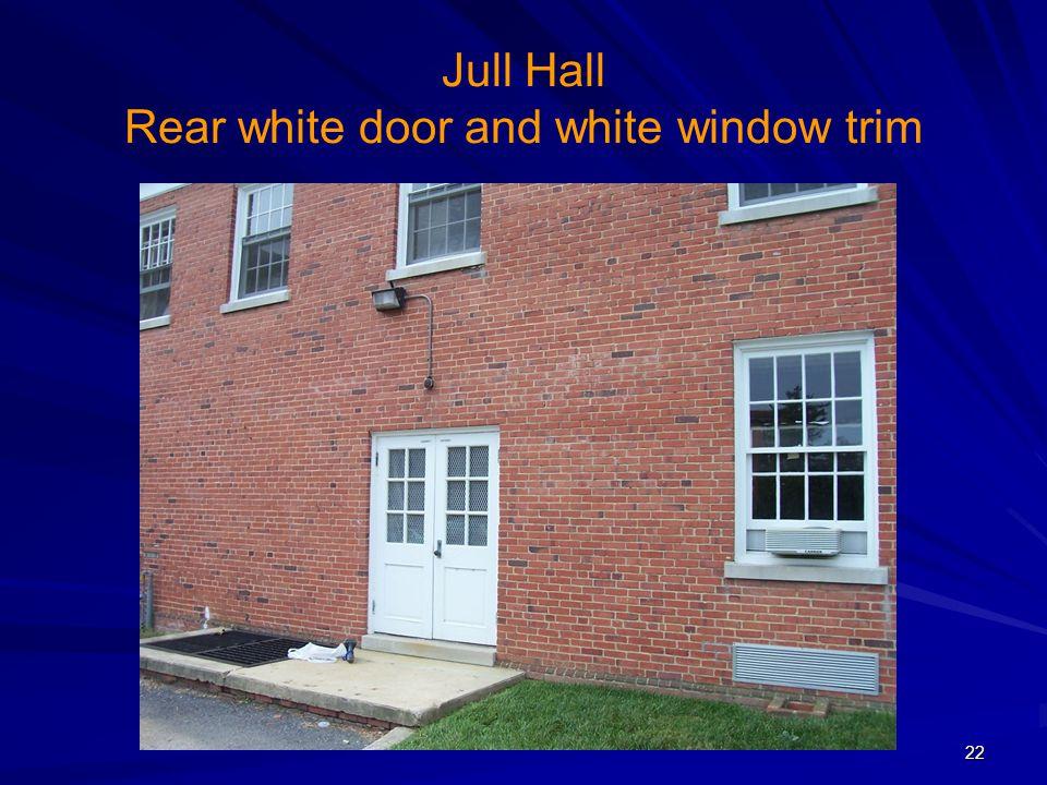 Jull Hall Rear white door and white window trim 22