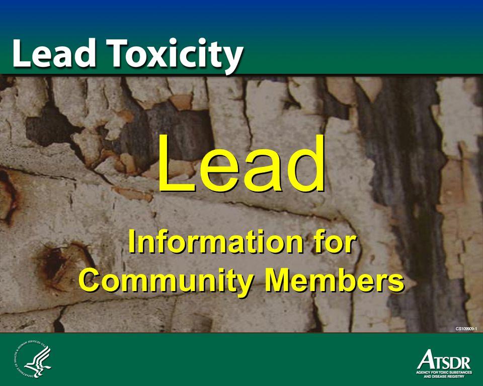 CS109909-1 Lead Information for Community Members