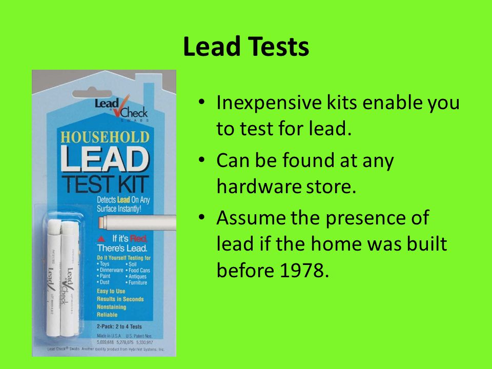 When Should I Take Lead Safety Precautions.
