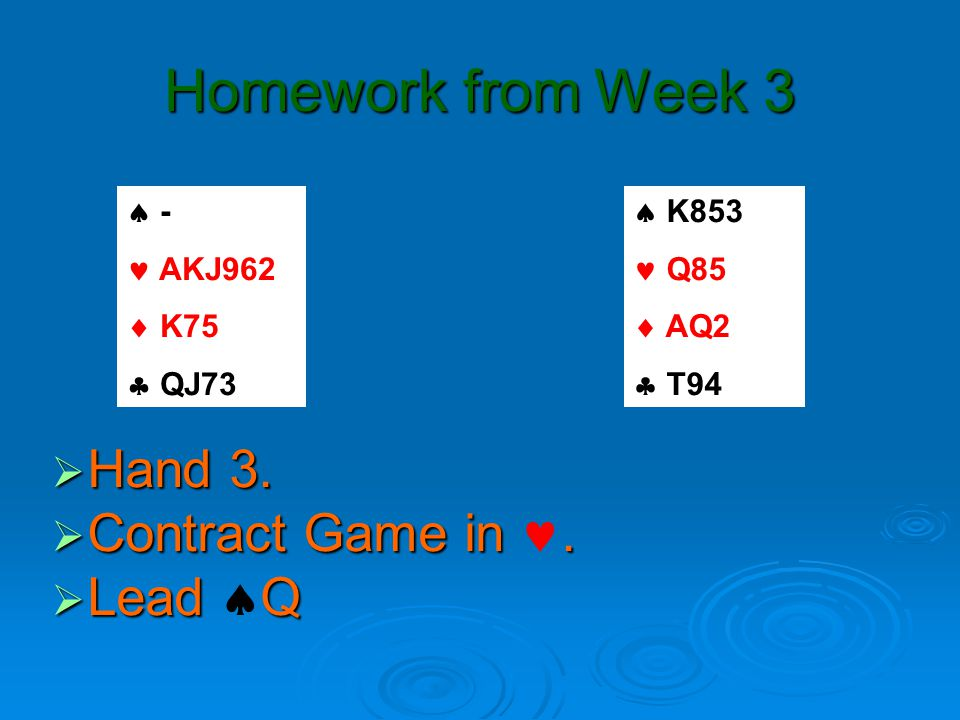 Homework from Week 3  Hand 4. Contract Game in.