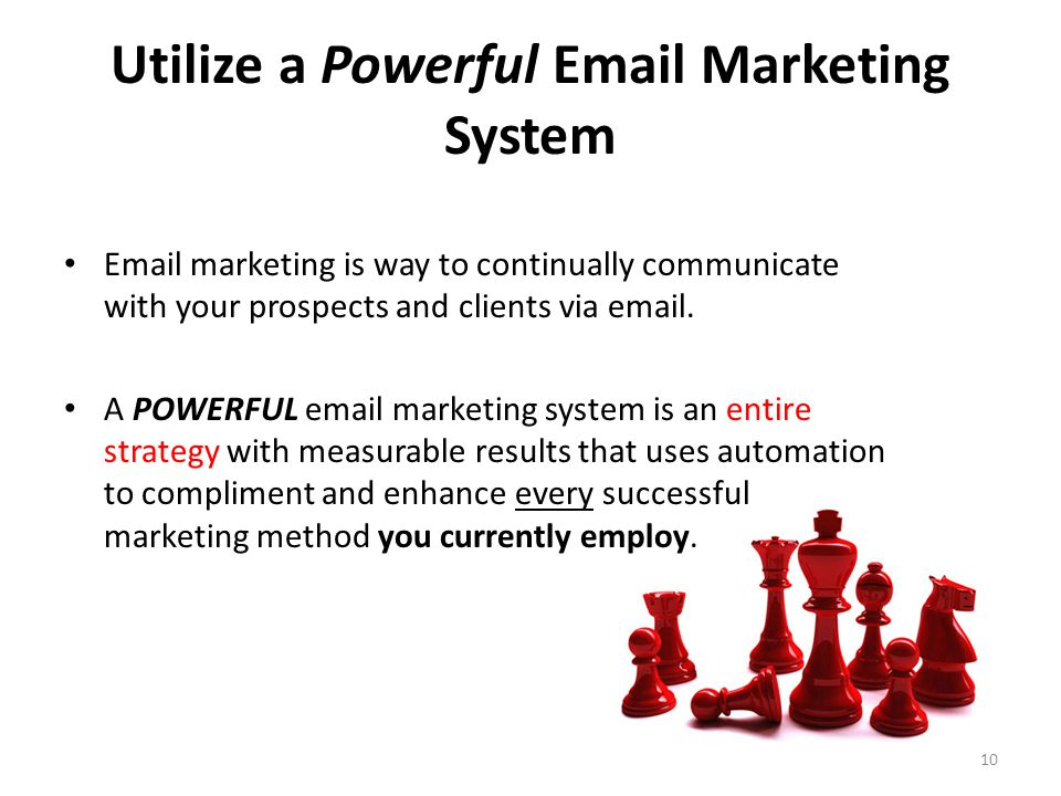 Utilize a Powerful Email Marketing System Email marketing is way to continually communicate with your prospects and clients via email.