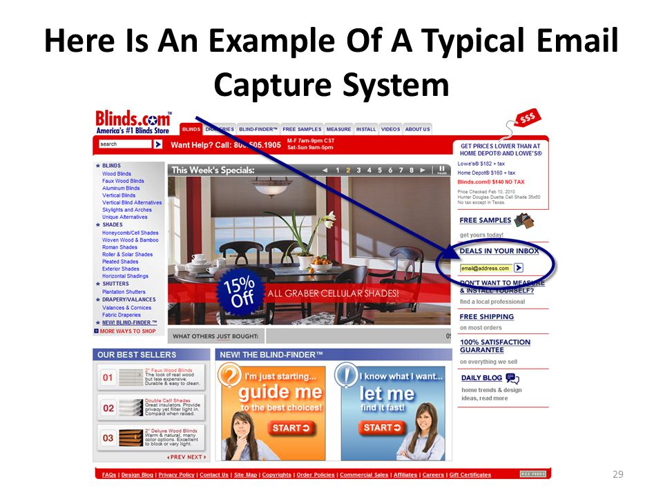 Here Is An Example Of A Typical Email Capture System 29