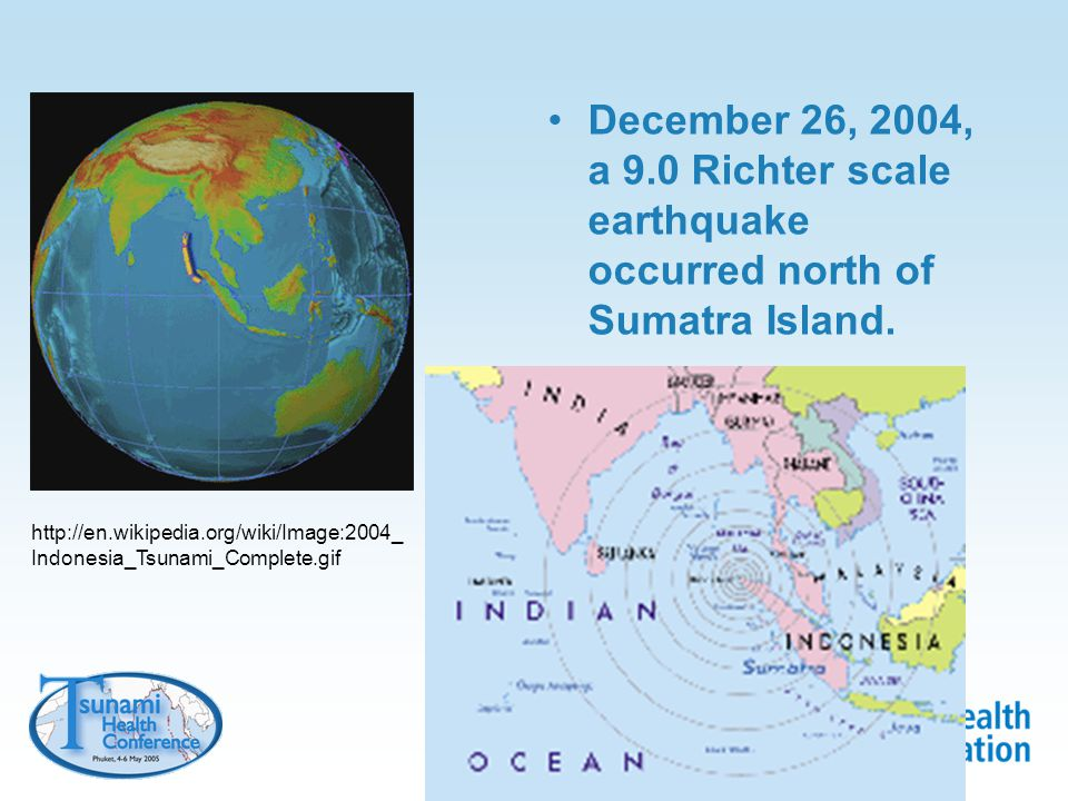 Caused a huge tsunami struck countries on the coast of the Indian Ocean, including Thailand from Manfred Leier, World Atlas of the Oceans, 2000, Firefly Books, Buffalo NY, USA.
