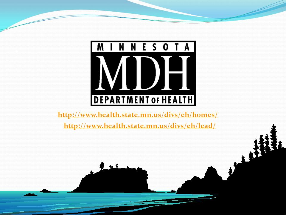 http://www.health.state.mn.us/divs/eh/homes/ http://www.health.state.mn.us/divs/eh/lead/.