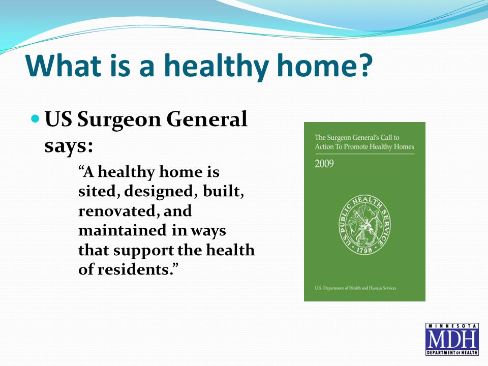What is a healthy home.