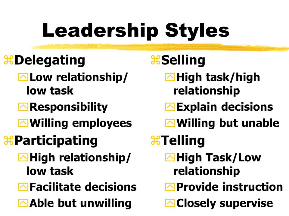 Leadership Traits zIntelligence yMore intelligent than non-leaders yScholarship yKnowledge yBeing able to get things done zPhysical yDoesn't see to be correlated z Personality yVerbal facility yHonesty yInitiative yAggressive ySelf-confident yAmbitious yOriginality ySociability yAdaptability