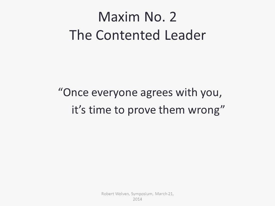 Maxim No.
