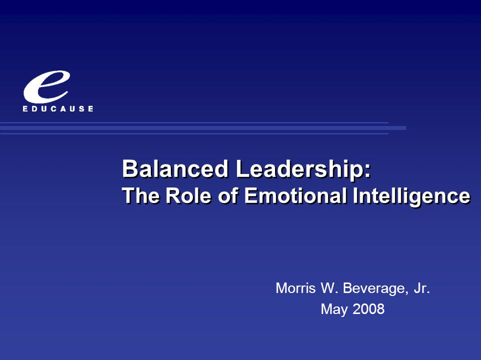 Further Research Work focused around the nature and types of emotional competencies have evolved current thinking around expanding the personal and social nature of emotional intelligence.