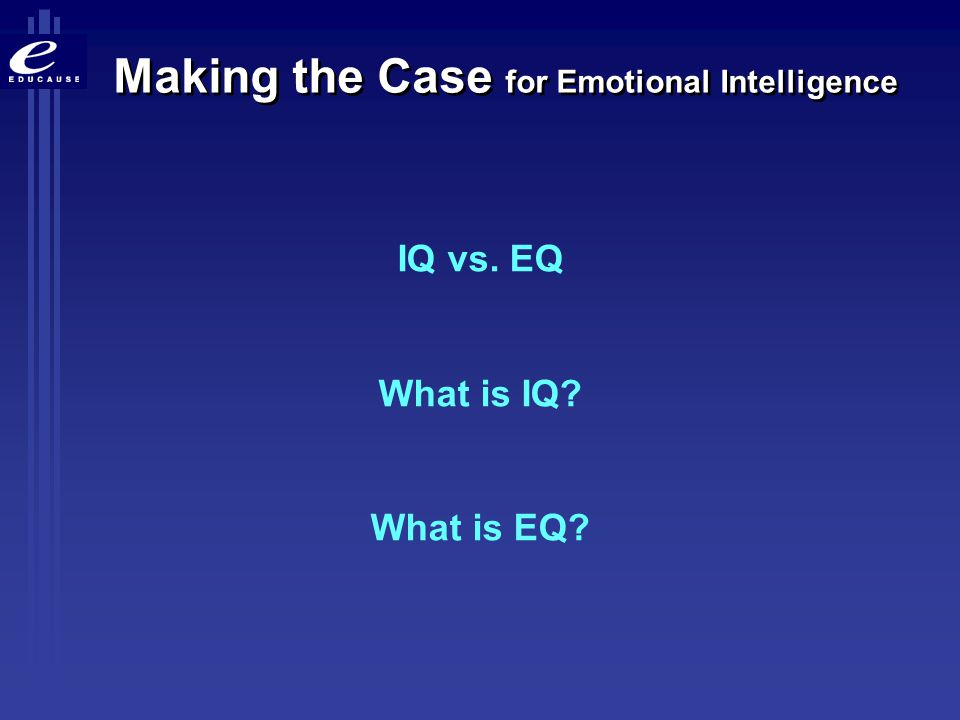 I.Q.(Intelligence Quotient) A number that shows the rating of a person s intelligence.