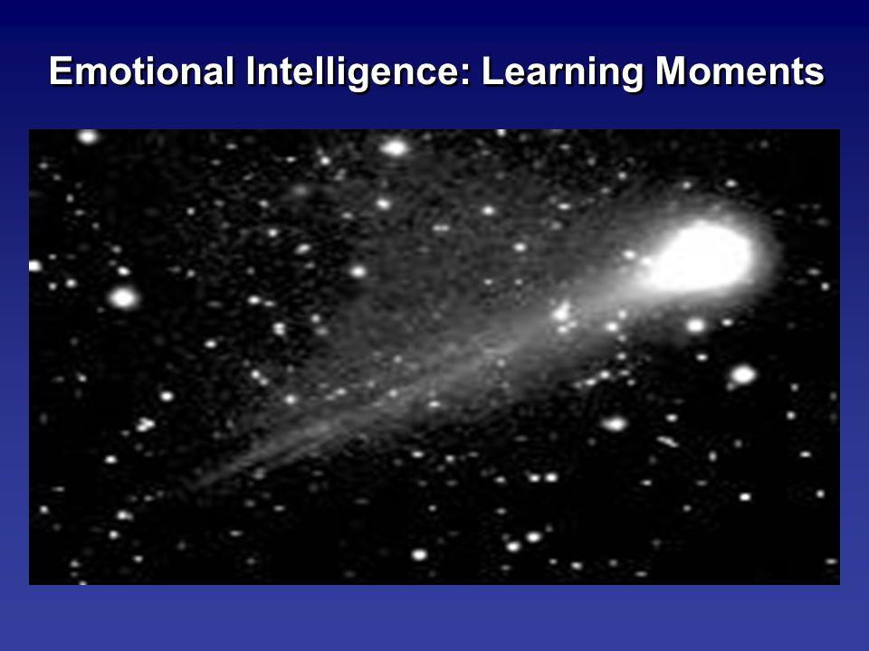 Emotional Intelligence: Learning Moments