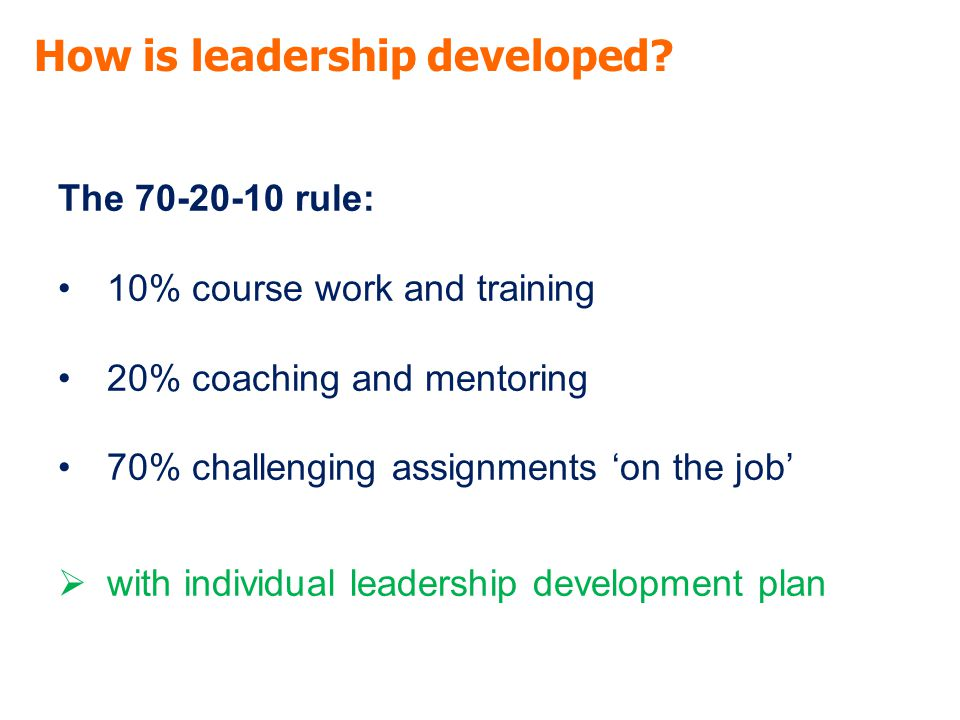 How is leadership developed.