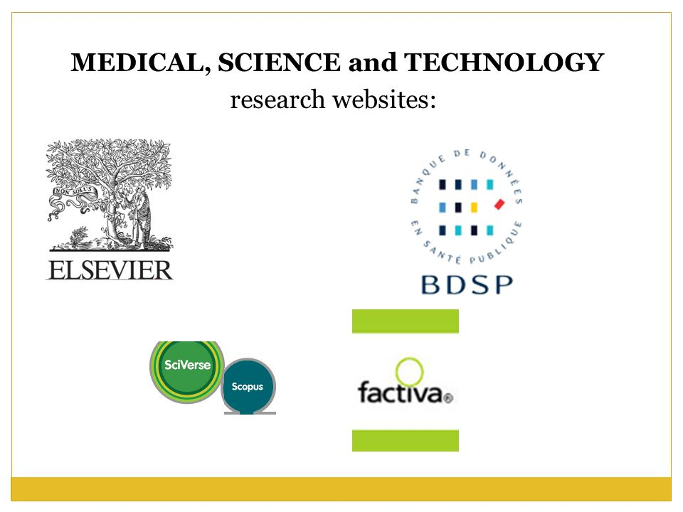 MEDICAL, SCIENCE and TECHNOLOGY research websites: