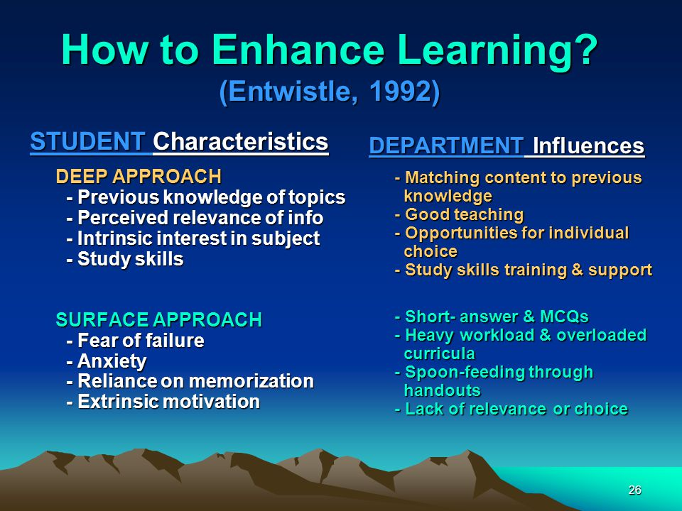 26 How to Enhance Learning.